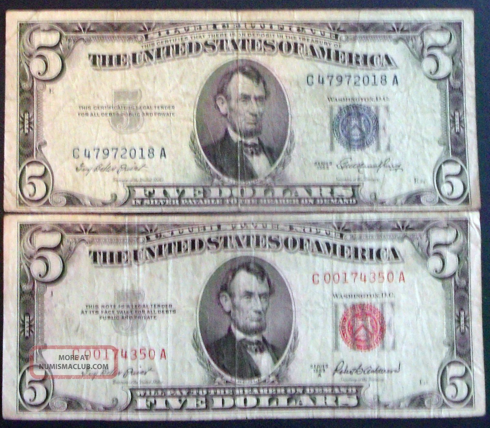 One 5 Silver Certificate Amp One A 5 United