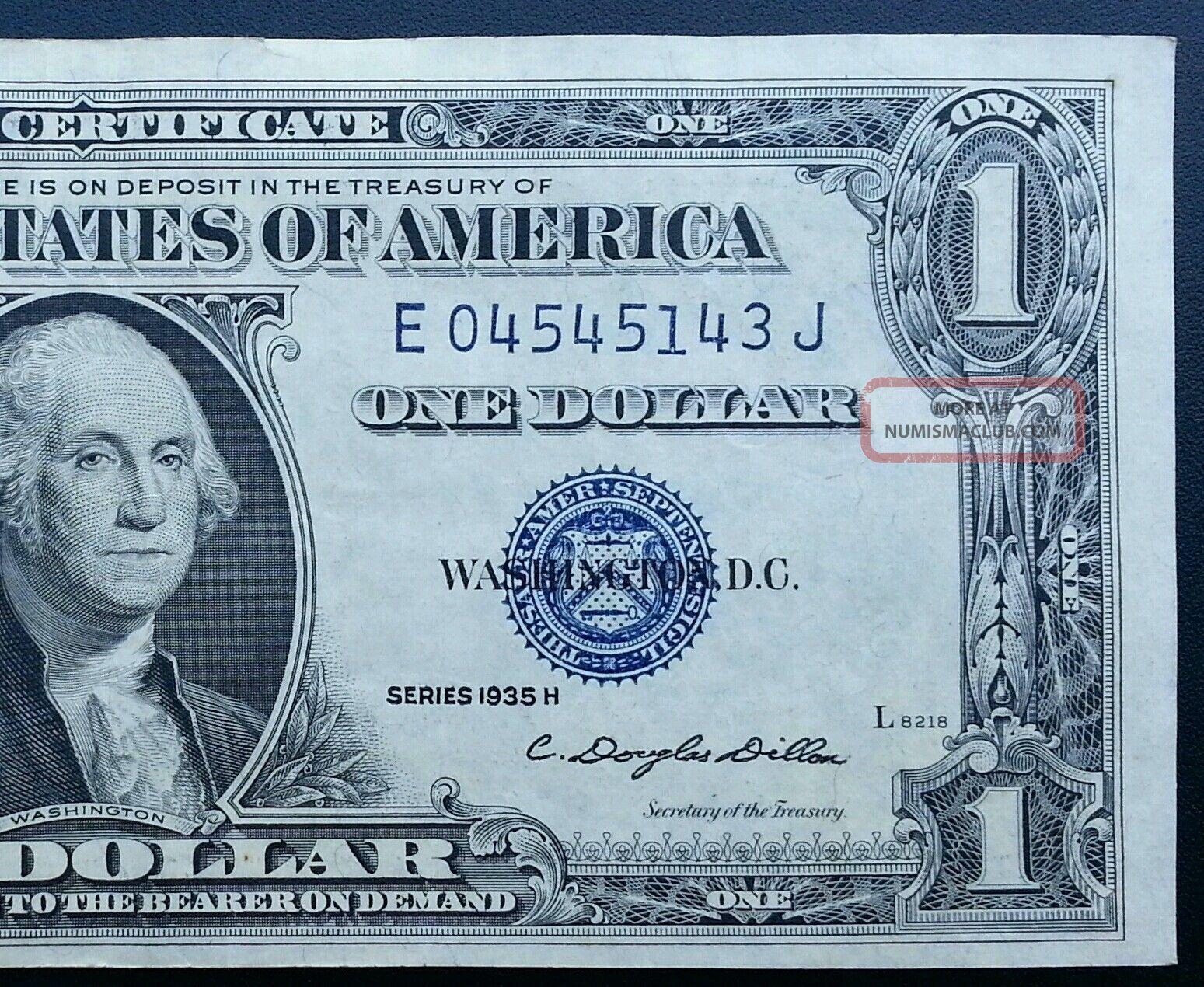 1935e Silver Certificate One Dollar