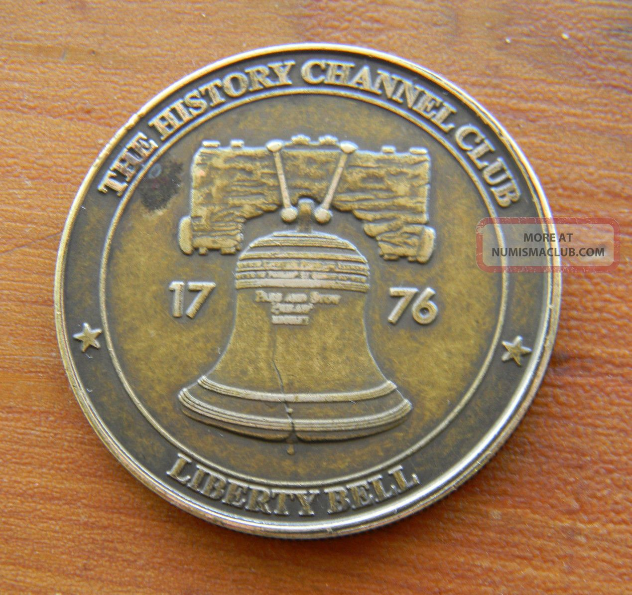 The History Channel Club Liberty Bell 34mm Bronze Token Coin Medallion