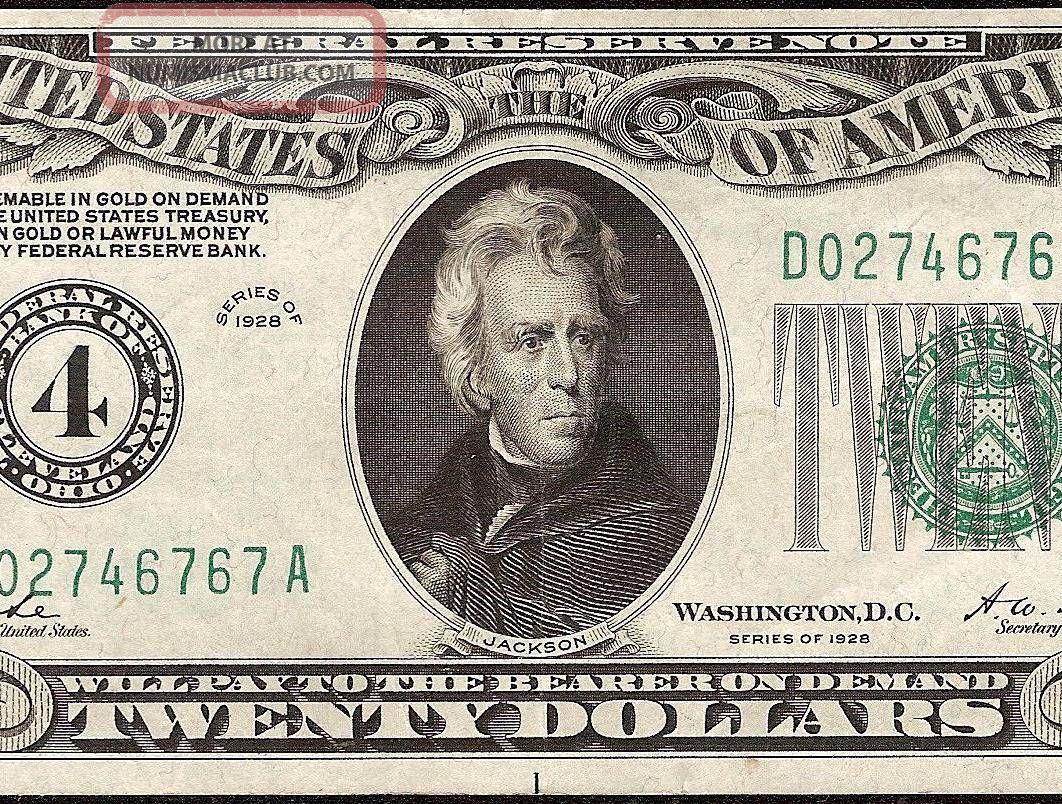 20 Dollar Bill Numerical Gold On Demand Federal