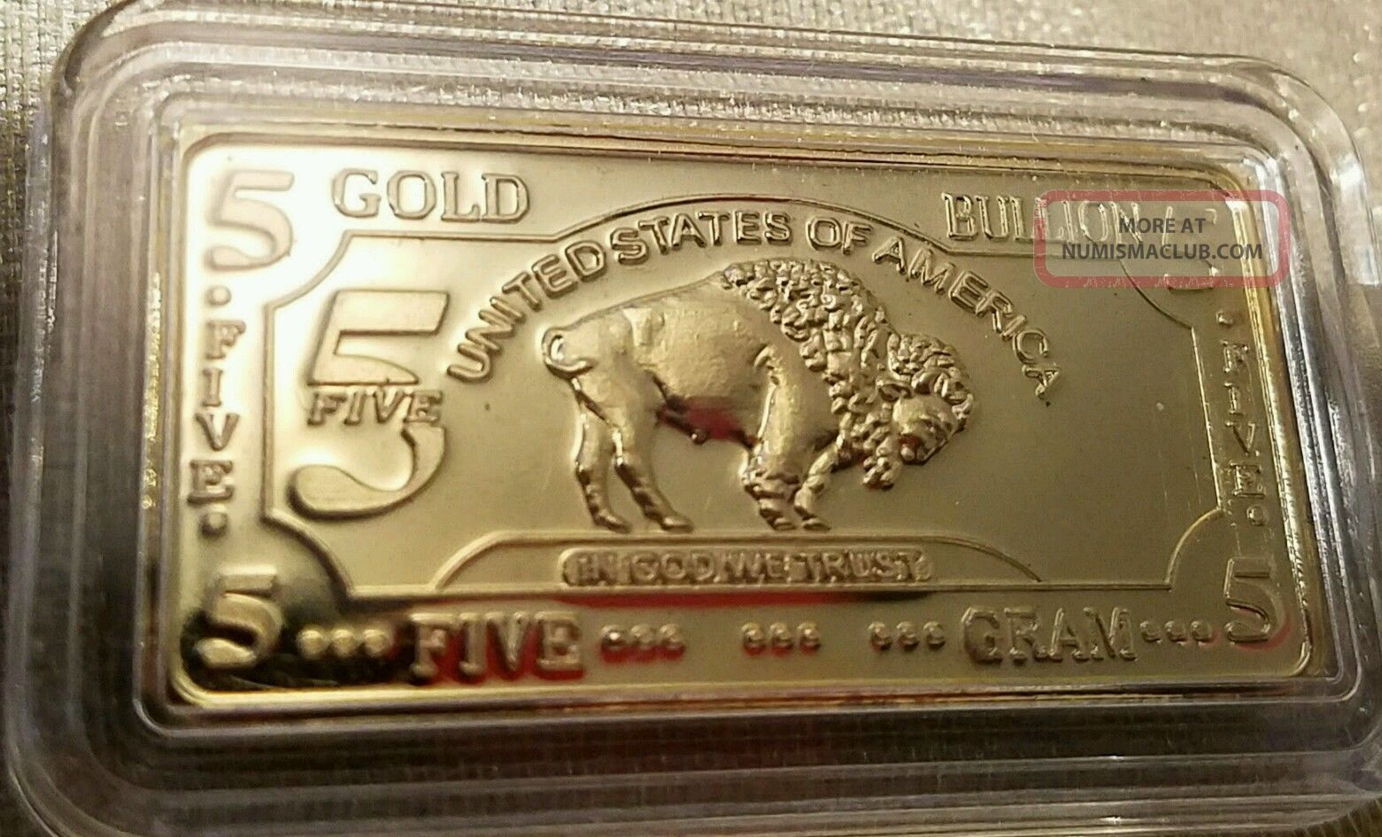 0 999 Buffalo Gold Bar 24k
