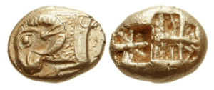 Ionia – zecca incerta 625 – 600 aC EL Trite