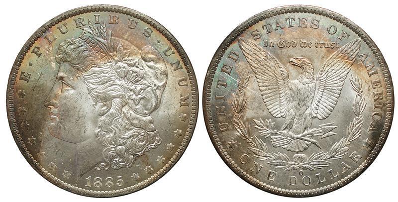 Figura 2.1: dollaro Morgan del 1885, zecca di New Orleans Con un po di pazienza e costanza (meglio ancora se c'è anche passione), ecco il risultato che potrete raggiungere. La foto è stata scattata con una vecchia compatta digitale, mentre per la PP ed il montaggio dei due versi, è stato usato un software gratuito chiamato GIMP.