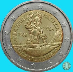2006 – V Centenario della Guardia Svizzera Pontificia (fonte: Lamoneta.it).
