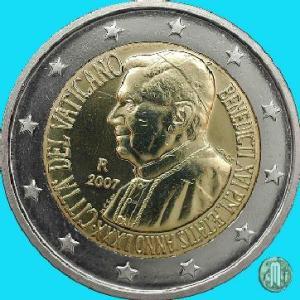 2007 – 80° Genetliaco di Benedetto XVI (fonte: Lamoneta.it).