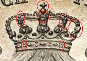 Foto A.1_Lire 2 1815 – CONIO 1. Particolare corona