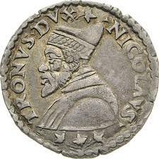 Lira in argento coniata sotto il dogato di Nicolò Tron (detta Lira tron o Trono)