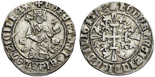Figura 3: Il gigliato imitativo coniato per volere di papa MartinoV.