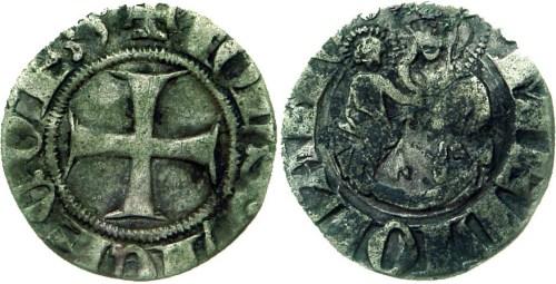 Figura 2: Zecca di Milano Giovanni Visconti (1349-1354) Sesino -AG Prov.~Asta Numismatica Varesi 54, Collez. Este Milani, 18-19 novembre 2009, lotto 92.