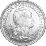moeda de 1 escudo no estado sob
