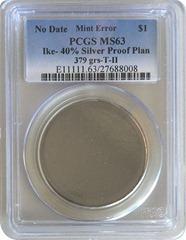 disco liso onde não chegou a ser batido a moeda dentro de uma capsula de certificação da PCGS