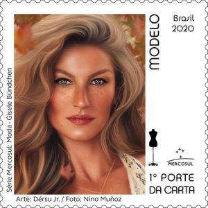 o ofício de modelo representado pela supermodelo Gisele Bündchen em uma foto de Nino Muñoz
