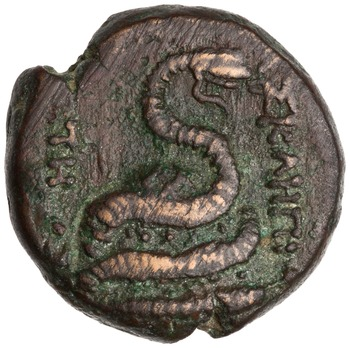 Reverse of Bronze Coin, Pergamum. 1944.100.43256