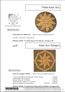 Numold - Moulds for Concrete Products - ABS Price List Page 12 - Petite Aztec & Aztec Sun Octagon