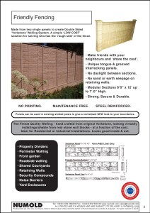 Numold - Moulds for Concrete Products - ABS Price List Page 2 - Friendly Fencing