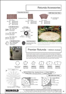 Numold - Moulds for Concrete Products - ABS Price List Page 26 - Rotunda Accessories