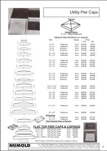 Numold - Moulds for Concrete Products - ABS Price List Page 6 - Utility Pier Caps