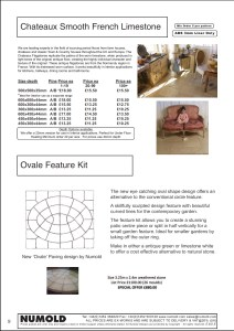 Numold - Moulds for Concrete Products - ABS Price List Page 9 - Chateaux Limestone