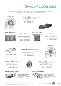 Numold - Moulds for Concrete Products - PU Price List Page 20 - Gyros Accessories