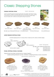 Numold - Moulds for Concrete Products - PU Price List Page 27 - Classic Stepping Stones