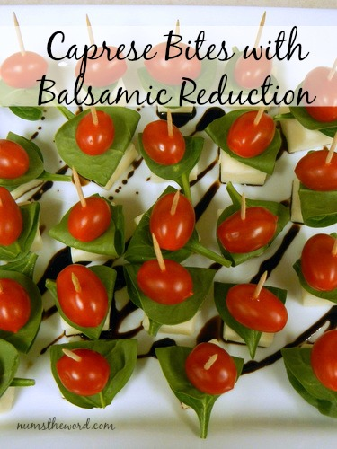 Caprese Bites with Balsamic Reduction