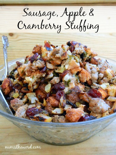 Sausage, Apple, Cranberry Stuffing