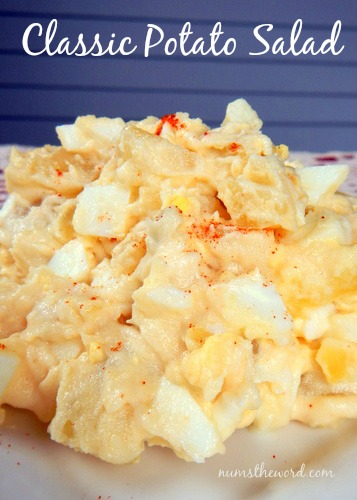Classic Potato Salad - Main image of potato salad on plate for website