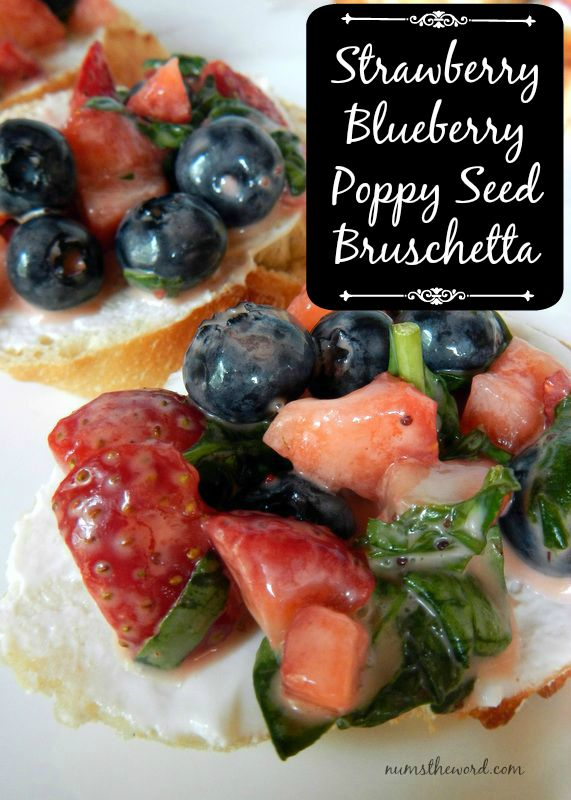 Strawberry Bruschetta Poppy Seed Bruschetta