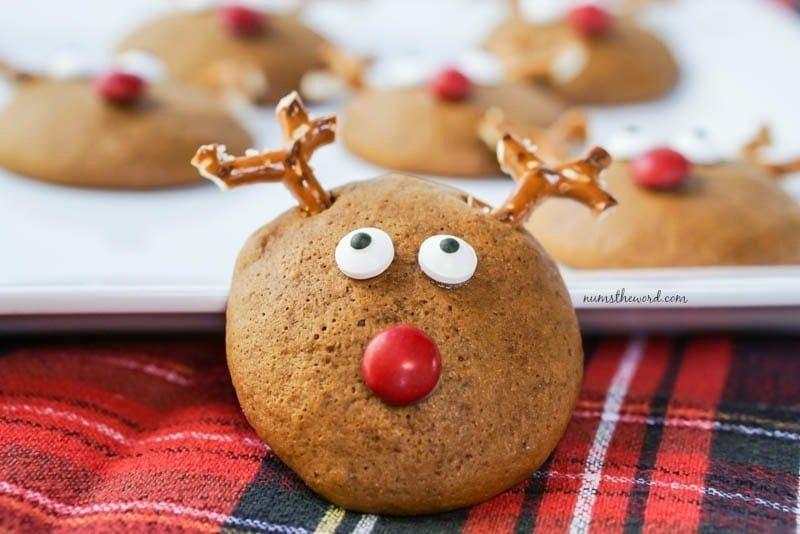 Soft Gingerbread Reindeer Cookies Num S The Word