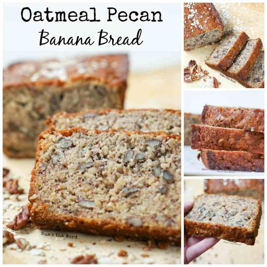 Oatmeal Pecan Banana Bread