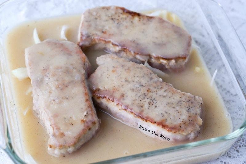 Baked Apple & Onion Pork Chops