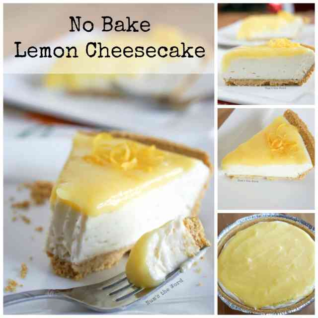 No Bake Lemon Cheesecake Collage Of Images For Facebook