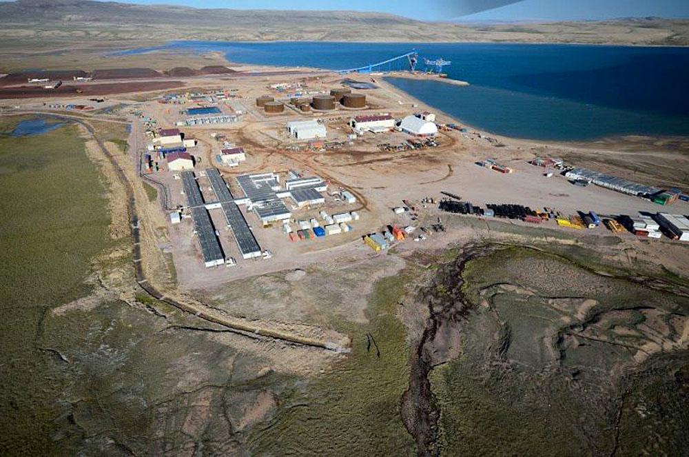 Baffinland's port at Milne Inlet, Baffin Island, Nunavut
