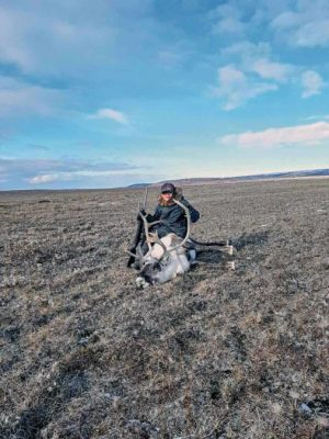 1510Geraldine Bruce<br /> Geraldine Bruce<br /> Coral Harbour<br /> Louie Sammy Bruce went caribou hunting with his dad Dennis Bruce, Sept. 21, 2018, near Coral Harbour.<br /> Photo by Dennis Bruce.
