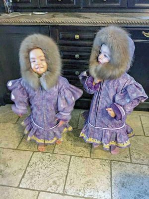 Bessie Beasely Cambridge Bay  1510Bessie Beasely_st1.jpg Two little ones in beautiful matching parkas.