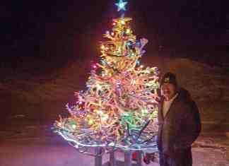 1401Jessie Malliki _WINNER Jessie Malliki Naujaat My dad Paul Malliki's caribou antlers Christmas tree in Naujaat.