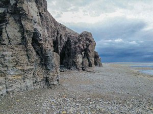 0104Roland Nakoolak.jpg<br /> Roland Nakoolak<br /> Coral Harbour<br /> Fall of 2017 on a hunting trip with my son Ramsey Eetuk at a place called Nunariaq. As you see the cliffs have that figure of a elephant if you look closely, it is amazing.
