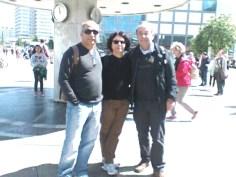 Jaíson, Eliana und Lutz in Berlin