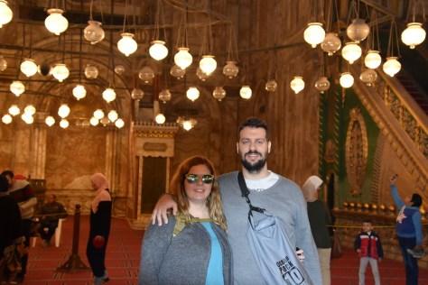 Laura y David dentro de la Mezquita
