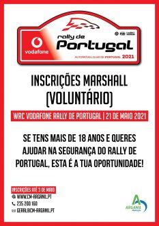 Municipio de Arganil recruta voluntários para Rallye de Portugal