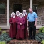 Bishop Richard F. Stika welcomes the Handmaids.