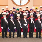 22 Knights in full regalia, in addition to Knight pall bearers and volunteers, blessed us with their presence and care.