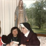 With Bonnie, also an Oblate, in 1990.