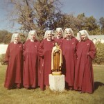 Mother David Marie (back row above statue) with sisters in Santa Fe in 1961.