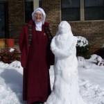 It was great snow 'nun' making snow.