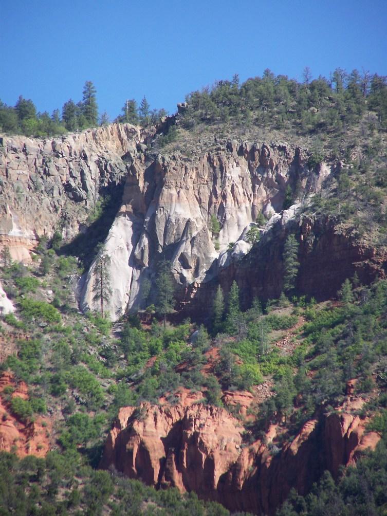 Cliffs of the Jemez Mountains as seen from Cor Jesu Monastery