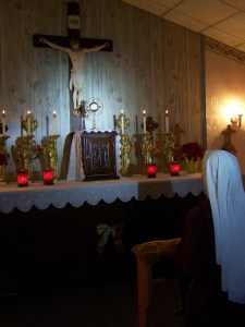 Adoration at Christ, Prince of Peace Retreat Center.