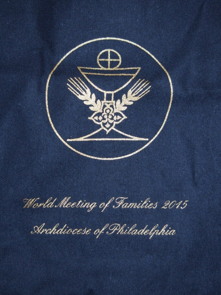 The Ciborium cover from the World Meeting of Families in Philadelphia