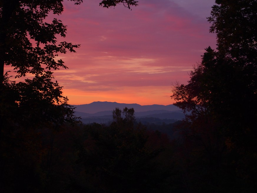 "Mount LeConte in the Smokies as seen from our ""backyard"""