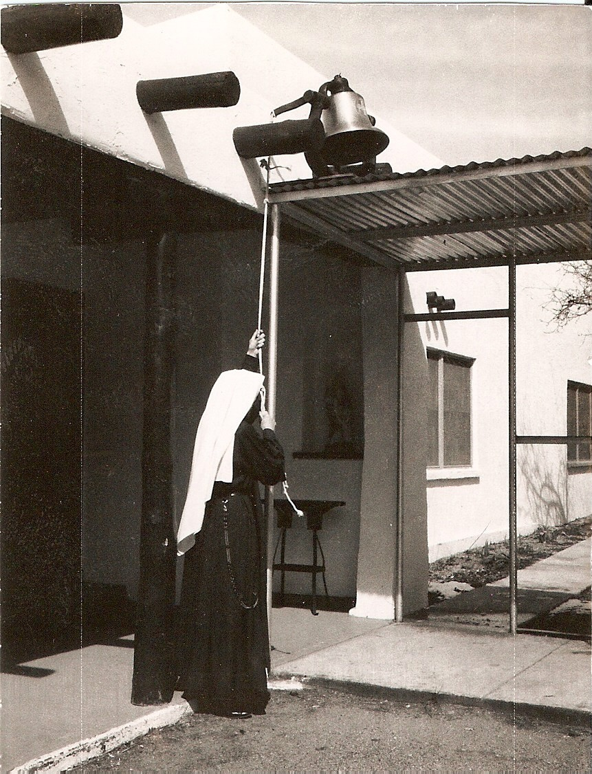 """From the archives: Handmaid ringing """"Old Faithful"""" calling the Sisters to prayer"""